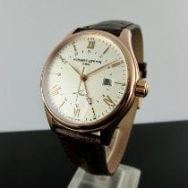Frederique Constant Classics Index GMT Steel 42mm Silver Roman numerals