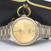 Tudor Style Or/Acier 38mm Champagne Sans chiffres
