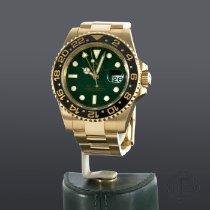 Rolex Oro amarillo Automático Verde Sin cifras 40mm nuevo GMT-Master II