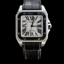Cartier Santos 100 Steel 35.6mm Silver Roman numerals United States of America, Missouri, Columbia