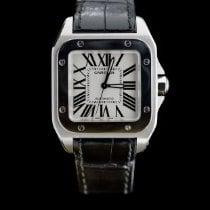 Cartier Santos 100 Сталь 35.6mm Cеребро Римские