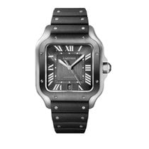 Cartier Santos (submodel) Steel 39.8mm Grey Roman numerals United States of America, Florida, Hollywood