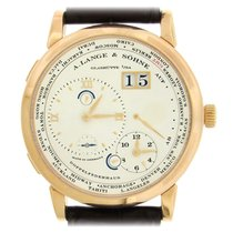 A. Lange & Söhne pre-owned Manual winding Silver Sapphire crystal 3 ATM