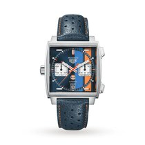 TAG Heuer Monaco Calibre 11 Steel 39mm Blue No numerals United States of America, Iowa, Des Moines