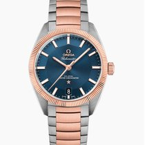 Omega Globemaster Gold/Steel 39mm Blue No numerals United States of America, Iowa, Des Moines