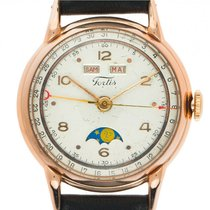 Fortis Very good Rose gold 35.5mm Manual winding