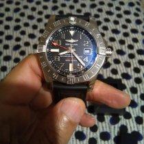Breitling Avenger II GMT Zeljezo 43mm Crn Arapski brojevi