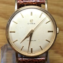 Cyma Yellow gold 35mm Manual winding R-459 pre-owned