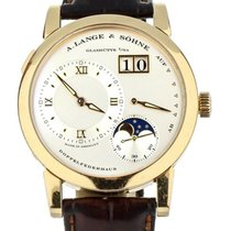A. Lange & Söhne Rose gold Manual winding Silver 38.5mm pre-owned Lange 1