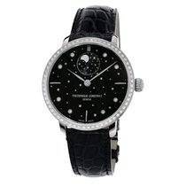 Frederique Constant Manufacture Slimline Moonphase Acier Noir France, Paris