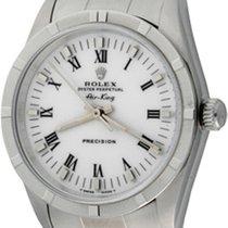 Rolex Air King Precision Stahl 34mm Weiß Römisch