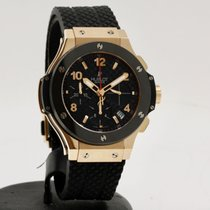 Hublot Big Bang 41 mm occasion 41mm Noir Chronographe Date Caoutchouc