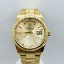 Rolex Yellow gold Automatic Gold 36mm pre-owned Day-Date 36