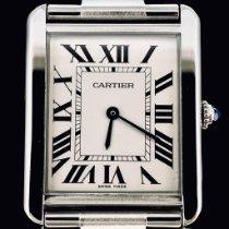 Cartier Tank Solo Steel 27mm White Roman numerals
