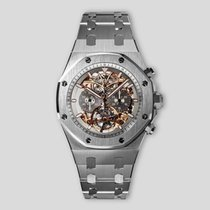 Audemars Piguet Titanium Chronograph Grey 44mm pre-owned Royal Oak Tourbillon