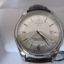 Tissot Ballade Powermatic 80 COSC gebraucht 41mm Silber Datum Leder