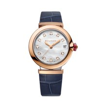 Bulgari Lucea Gold/Steel 33mm Mother of pearl