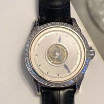 Omega De Ville Central Tourbillon White gold 38.5mm Silver No numerals
