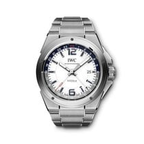 IWC Ingenieur Dual Time Stål 43mm Vit Arabiska