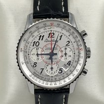 Breitling Montbrillant 01 pre-owned 40mm Silver Chronograph Leather