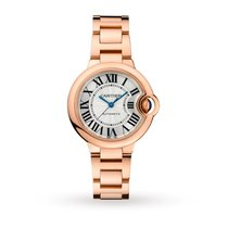 Cartier Ballon Bleu 33mm Pозовое золото 33mm Cеребро Римские