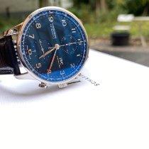 IWC Portuguese Chronograph nuevo 2020 Automático Cronógrafo Reloj con estuche y documentos originales IW371606