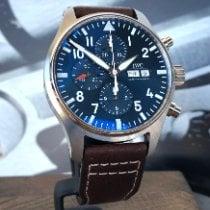 IWC Fliegeruhr Chronograph Stahl 43mm Blau Arabisch Deutschland, Dachau