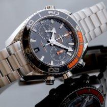 Omega Seamaster Planet Ocean Chronograph Acero 45.5mm Negro Sin cifras
