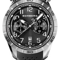 Bomberg new Quartz Central seconds Small seconds Luminous hands Only Original Parts 44mm Steel Sapphire crystal