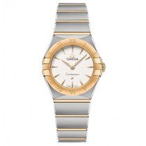 Omega Constellation Gold/Steel 25mm Silver No numerals