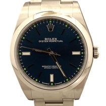 Rolex Oyster Perpetual 39 Acero 39mm Azul
