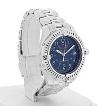 Breitling Colt Steel 38mm Blue Arabic numerals