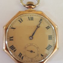 Gruen Vintage Early 1900's Gruen Verithin Pocket Watch, Yellow Gold Filled, Working, 5 Positions Adjusted, 17 Jewel, #492572, Octagon Case 1910 pre-owned