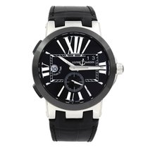 Ulysse Nardin Steel Automatic Black Roman numerals 43mm pre-owned Executive Dual Time