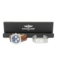 Breitling Navitimer pre-owned 42mm Blue Chronograph Date Leather