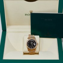 Rolex Day-Date 36 Rose gold 36mm Black No numerals United States of America, California, Los Angeles