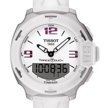 Tissot T-Race Touch Stahl 42mm Weiß