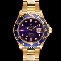 Rolex Submariner Date Жёлтое золото Фиолетовый