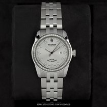 Tudor Glamour Date pre-owned 31mm Silver Date Year Steel