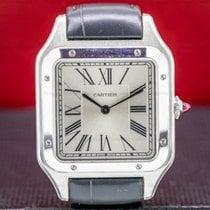Cartier Santos Dumont Platinum 31.4mm Silver Roman numerals