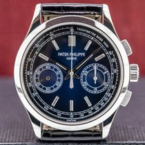 Patek Philippe Chronograph Platinum 39mm Blue United States of America, Massachusetts, Boston