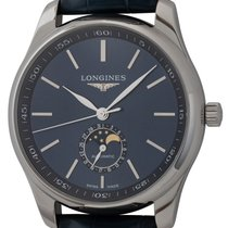 Longines Steel Automatic Blue 42mm pre-owned Master Collection