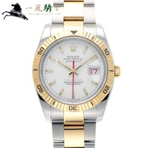 Rolex Datejust Turn-O-Graph Staal 36mm Wit