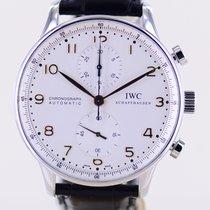 IWC Portugieser Chronograph Stahl 41mm Silber Arabisch Deutschland, Langenfeld