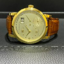 A. Lange & Söhne Lange 1 Yellow gold 38.5mm Champagne Roman numerals Singapore, Singapore