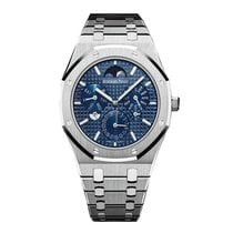 Audemars Piguet Royal Oak Perpetual Calendar Platinum 41mm Blue No numerals United States of America, New York, New York