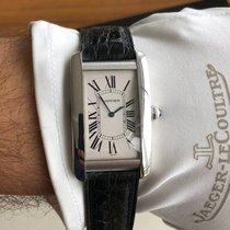 Cartier Tank Américaine gebraucht 45mm Silber Krokodilleder