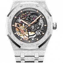 Audemars Piguet Royal Oak Double Balance Wheel Openworked Witgoud 41mm Doorzichtig Geen cijfers