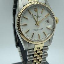 Rolex Datejust Or/Acier 36mm Blanc Sans chiffres