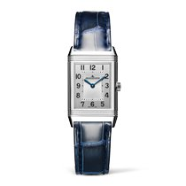 Jaeger-LeCoultre Reverso Classic Small Stahl 34.2mm Silber Arabisch